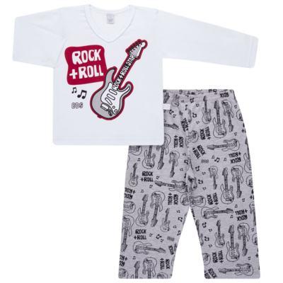 Imagem 1 do produto Pijama longo em malha Rockn´ Roll - Cara de Sono - L2466 ROCK+ROLL L PG-LONGO M/MALHA-1