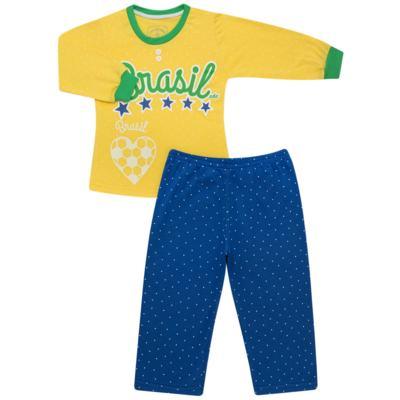 Imagem 1 do produto Pijama longo que Brilha no Escuro Brasil - Cara de Criança - L1112 Pijama longo que Brilha no Escuro Brasil-6