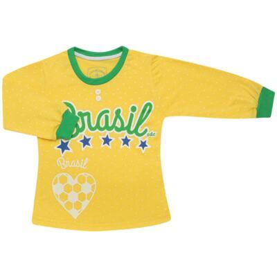 Imagem 2 do produto Pijama longo que Brilha no Escuro Brasil - Cara de Criança - L1112 Pijama longo que Brilha no Escuro Brasil-4