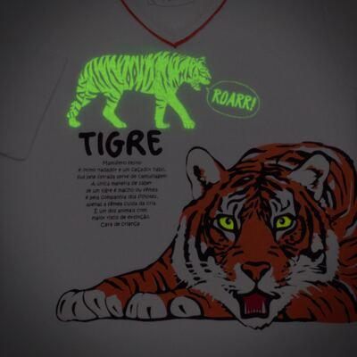 Imagem 4 do produto Pijama longo que Brilha no escuro Tigre - Cara de Criança - L2357 TIGRE L PJ-LONGO M/MALHA -3