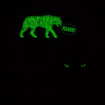 Imagem 5 do produto Pijama longo que Brilha no escuro Tigre - Cara de Criança - L2357 TIGRE L PJ-LONGO M/MALHA -3