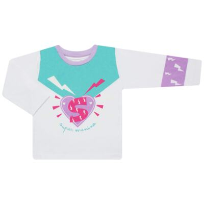 Imagem 2 do produto Pijama longo que Brilha no Escuro Super Menina - Cara de Criança - L1021 Pijama longo que Brilha no Escuro Super Menina-2