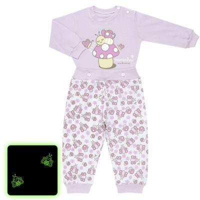 Imagem 1 do produto Pijama 4 botões que Brilha no Escuro Butterfly - Cara de Criança - 4L1947 COGUMELO 4L PJ 4 BOTOES - LONGO M/MALHA -G