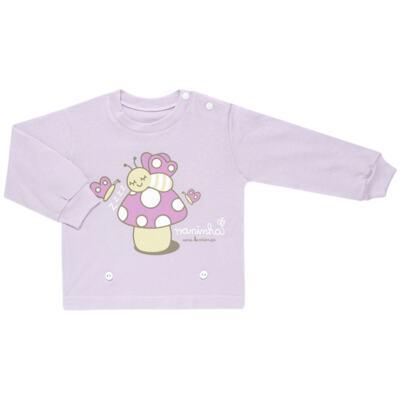 Imagem 2 do produto Pijama 4 botões que Brilha no Escuro Butterfly - Cara de Criança - 4L1947 COGUMELO 4L PJ 4 BOTOES - LONGO M/MALHA -P