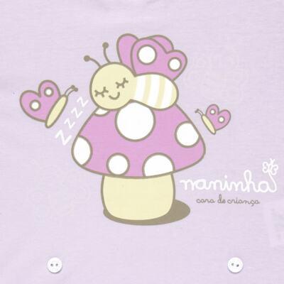 Imagem 3 do produto Pijama 4 botões que Brilha no Escuro Butterfly - Cara de Criança - 4L1947 COGUMELO 4L PJ 4 BOTOES - LONGO M/MALHA -P