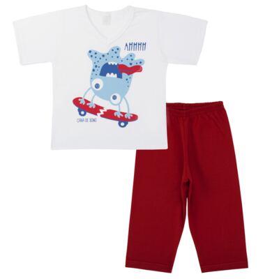 Imagem 1 do produto Pijama curto em malha Monster - Cara de Sono