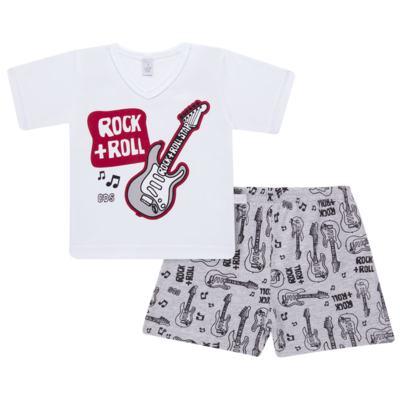 Imagem 1 do produto Pijama curto em malha Rockn´ Roll - Cara de Sono - U2466 ROCK+ROLL U PIJAMA-CURTO M/MALHA -3