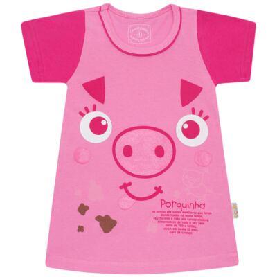 Imagem 1 do produto Camisola que Brilha no Escuro Pink Pig - Cara de Criança - 1379-PIG CA PJ-CAMISOLA M/MALHA-3