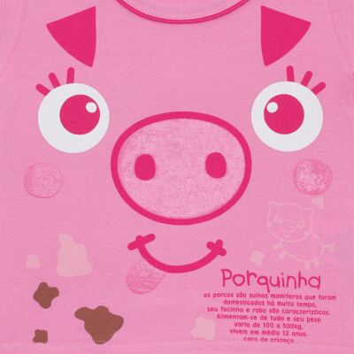 Imagem 2 do produto Camisola que Brilha no Escuro Pink Pig - Cara de Criança - 1379-PIG CA PJ-CAMISOLA M/MALHA-4