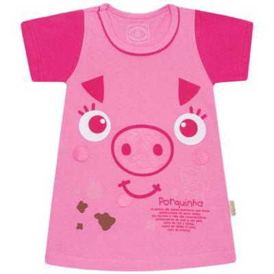 Imagem 1 do produto Camisola que Brilha no Escuro Pink Pig - Cara de Criança - 1379-PIG CA PJ-CAMISOLA M/MALHA-1