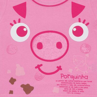 Imagem 2 do produto Camisola que Brilha no Escuro Pink Pig - Cara de Criança - 1379-PIG CA PJ-CAMISOLA M/MALHA-1
