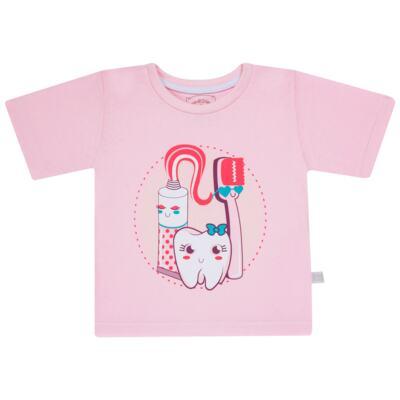 Imagem 2 do produto Pijama curto que Brilha no Escuro Dentinha - Cara de Criança - U2881 TIME SORRISO FEM U PIJAMA CURTO M/MALHA-2