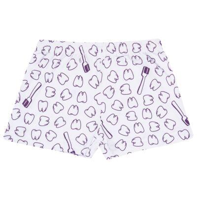Imagem 5 do produto Pijama curto que Brilha no Escuro Dentinha - Cara de Criança - U2881 TIME SORRISO FEM U PIJAMA CURTO M/MALHA-4