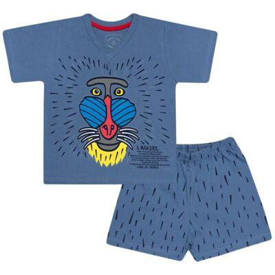 Imagem 1 do produto Pijama curto que Brilha no Escuro Mandril - Cara de Criança - U0903 PIJAMA CURTO QUE BRILHA NO ESCURO MANDRIL-4