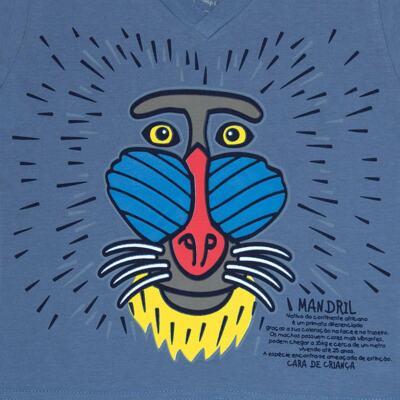 Imagem 4 do produto Pijama curto que Brilha no Escuro Mandril - Cara de Criança - U0903 PIJAMA CURTO QUE BRILHA NO ESCURO MANDRIL-2