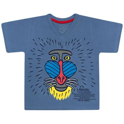 Imagem 2 do produto Pijama curto que Brilha no Escuro Mandril - Cara de Criança - U0903 PIJAMA CURTO QUE BRILHA NO ESCURO MANDRIL-1