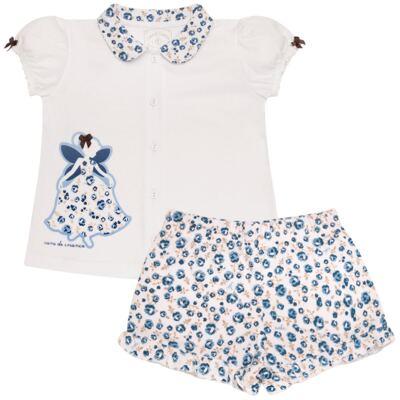 Imagem 1 do produto Pijama curto com abertura Fada - Cara de Criança - AB0881 PIJAMA CURTO COM ABERTURA FADA-4