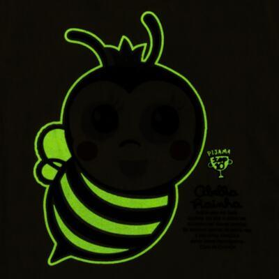 Imagem 5 do produto Pijama curto que Brilha no Escuro Little Bee - Cara de Criança - U2278 ABELHA PIJAMA-CURTO M/MALHA -1