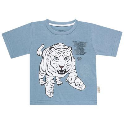 Imagem 2 do produto Pijama curto que Brilha no Escuro Tigre Branco - Cara de Criança - U2283 TIGRE BRANCO U PIJAMA CURTO M/MALHA-2