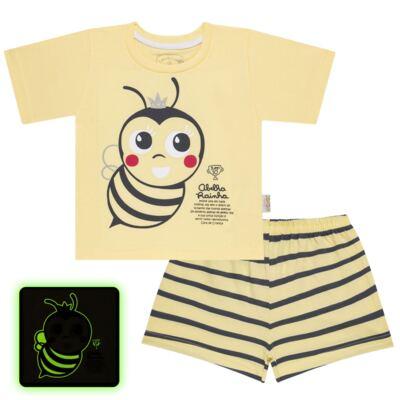 Imagem 1 do produto Pijama curto que Brilha no Escuro Little Bee - Cara de Criança - U2278 ABELHA PIJAMA-CURTO M/MALHA -4
