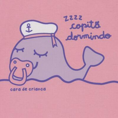 Imagem 3 do produto Pijama curto que Brilha no Escuro Miss Captain - Cara de Criança - BC1942 BALEINHA BC PJ-BB CURTA C/CALCA M/MALHA-M