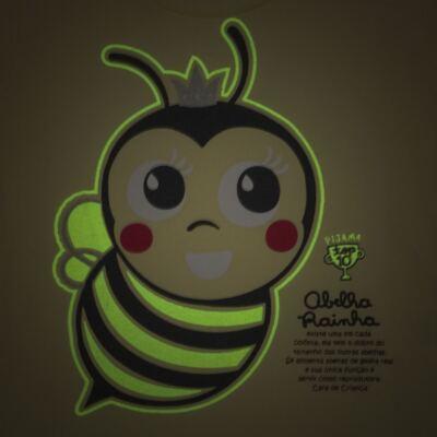 Imagem 3 do produto Pijama curto que Brilha no Escuro Little Bee - Cara de Criança - U2278 ABELHA PIJAMA-CURTO M/MALHA -3