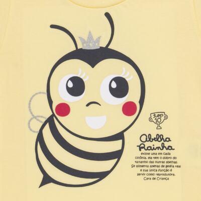 Imagem 4 do produto Pijama curto que Brilha no Escuro Little Bee - Cara de Criança - U2278 ABELHA PIJAMA-CURTO M/MALHA -3