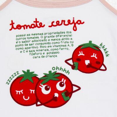 Imagem 4 do produto Pijama Regata que Brilha no Escuro Tomatinho Cereja - Cara de Criança - R2277 TOMATE CEREJA R PJ REGATA COTTON -3