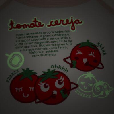 Imagem 3 do produto Pijama Regata que Brilha no Escuro Tomatinho Cereja - Cara de Criança - R2277 TOMATE CEREJA R PJ REGATA COTTON -1