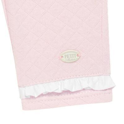 Imagem 3 do produto Calça para bebe em viscomfort matelassê Rose - Petit - 41134344 CALÇA C/ BABADO MATELASSE OVELHA FEM -G
