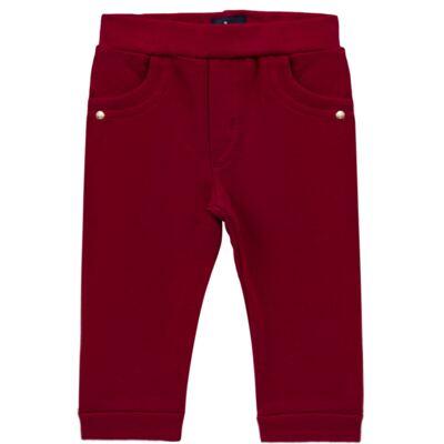 Imagem 1 do produto Calça para bebe em molicotton Vermelha - Mini Sailor - 41634263 CALÇA C/ BOLSO MOLICOTTON VERMELHO-NB