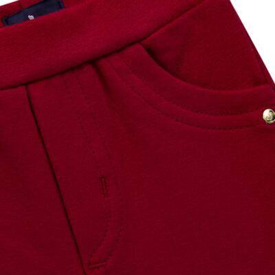 Imagem 2 do produto Calça para bebe em molicotton Vermelha - Mini Sailor - 41634263 CALÇA C/ BOLSO MOLICOTTON VERMELHO-9-12