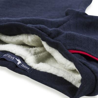 Imagem 5 do produto Calça para bebe Matelassê & Pelúcia Marinho - Mini Sailor - 41644262 CALÇA FORRADA BOLSO E VIVO MATELASSE MARINHO -0-3