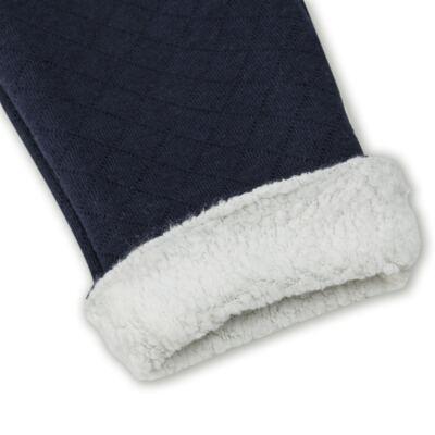 Imagem 3 do produto Calça para bebe Matelassê & Pelúcia Marinho - Mini Sailor - 41644262 CALÇA FORRADA BOLSO E VIVO MATELASSE MARINHO -6-9