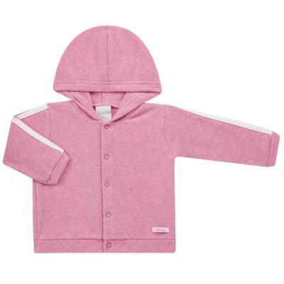 Imagem 2 do produto Casaco c/ capuz e Calça para bebe em soft Rosa - Tilly Baby - TB0172020.10 CONJ. CASACO COM CALÇA SOFT ROSA-M
