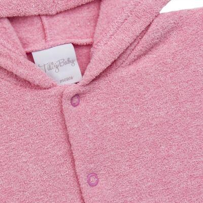 Imagem 3 do produto Casaco c/ capuz e Calça para bebe em soft Rosa - Tilly Baby - TB0172020.10 CONJ. CASACO COM CALÇA SOFT ROSA-M