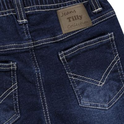Imagem 2 do produto Calça jeans masculina para bebe Stonewhashed - Tilly Baby - TB168003 CALÇA JEANS MASCULINA-3