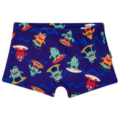 Imagem 1 do produto Sunga Boxer para bebe em Lycra Monstros do Surf - Puket - PK110400247.320 Sunga Boxer Kids Monstro EV Azul-4