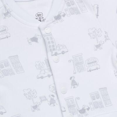 Imagem 2 do produto Macacão curto para bebe em suedine City - Bibe - 39C32-G92 MAC MASC MC BY BIBE-G