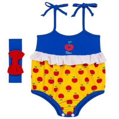 Imagem 1 do produto Maiô + Faixa para bebe em lycra Branca de Neve - Cara de Criança - MB2904 PRINCESA MAIO BB LICRA-M