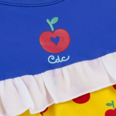 Imagem 3 do produto Maiô + Faixa para bebe em lycra Branca de Neve - Cara de Criança - MB2904 PRINCESA MAIO BB LICRA-M
