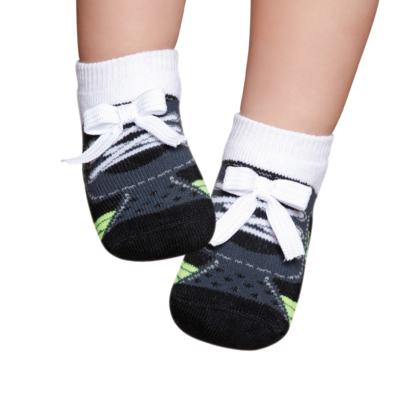 Imagem 1 do produto Meia Soquete recém-nascido Preto e Verde - Puket