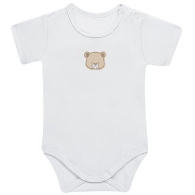 Imagem 2 do produto Pack: 02 Bodies curtos para bebe em algodão egípcio c/ jato de cerâmica Nature Little Friends - Mini & Classic - 1024650 PACK 2 BODIES MC SUEDINE NATURE -G