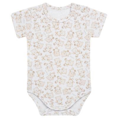 Imagem 4 do produto Pack: 02 Bodies curtos para bebe em algodão egípcio c/ jato de cerâmica Nature Little Friends - Mini & Classic - 1024650 PACK 2 BODIES MC SUEDINE NATURE -G