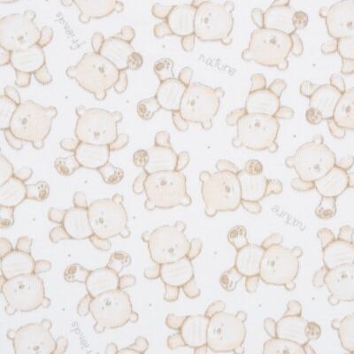 Imagem 5 do produto Pack: 02 Bodies curtos para bebe em algodão egípcio c/ jato de cerâmica Nature Little Friends - Mini & Classic - 1024650 PACK 2 BODIES MC SUEDINE NATURE -G