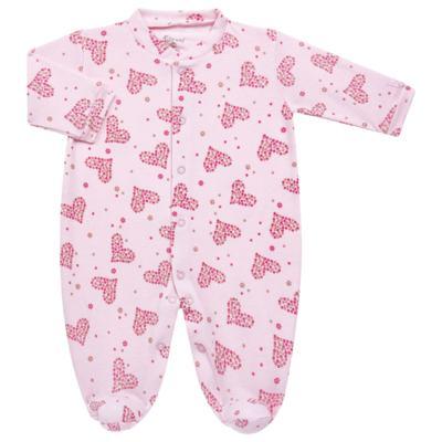 Imagem 1 do produto Macacão longo para bebe em malha Little Hearts - Tilly Baby - TB168702 MACACAO PIJAMA FEM PUNHO CORAÇÃO-P