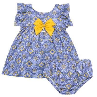 Imagem 1 do produto Vestido c/ calcinha para bebe Azulê - Roana - 24042059022 VESTIDO C/CALCINHA AZUL-M
