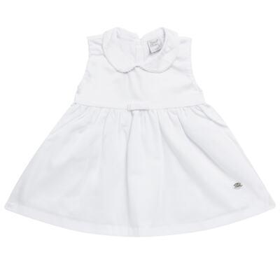Imagem 5 do produto Vestido c/ Bolero para bebe em fustão Branco - Mini & Classic - 1425659 VESTIDO COM BOLERO TRICOLINE/BRANCO-P