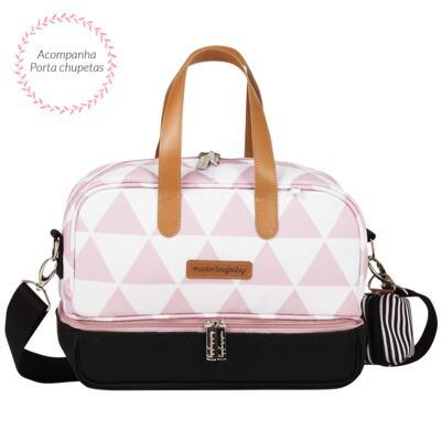 Imagem 4 do produto Bolsa 4 em 1 Sofia + Frasqueira térmica Vicky + Frasqueira Organizadora Manhattan Rosa - Masterbag