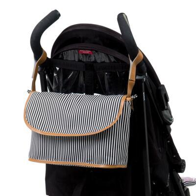 Imagem 6 do produto Mala maternidade Vintage + Bolsa Everyday + Frasqueira Organizadora Manhattan Azul - Masterbag